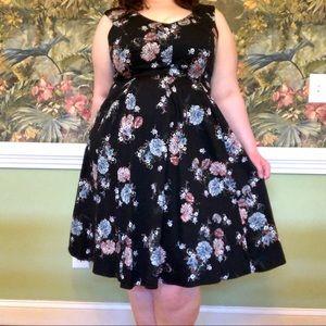 Torrid black floral dress size 16